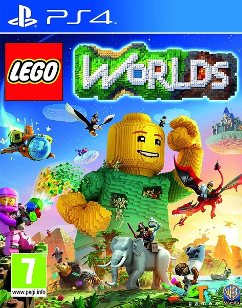 Lego Worlds PS4 Cover