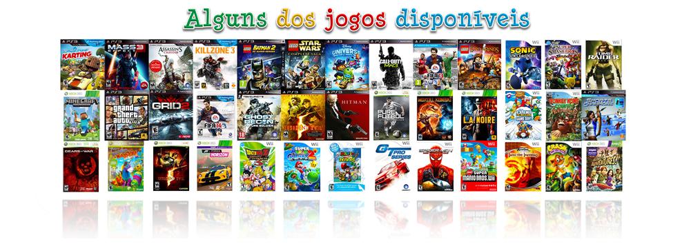 Jogos PS3 PS4 XBOX Wii Rodas da Diversão