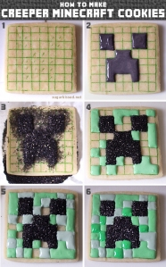 Biscoito decorativo Minecraft