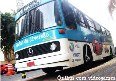 ônibus com videogames - festa infantil brasília