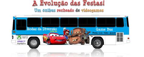 Ônibus com videogames Brasília