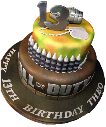 Bolo Call of duty 13 anos