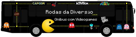 Festa infantil em Brasília no ônibus com videogames