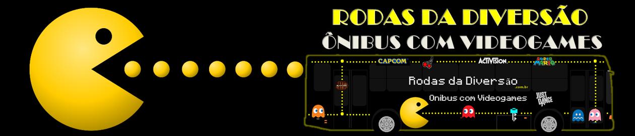 Ônibus com Videogames p Festa infantil – RODAS DA DIVERSÃO®