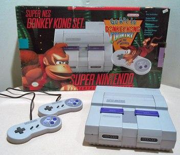Videogame antigo Super Nintendo